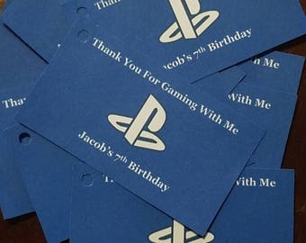 PlayStation Party Favor Tags