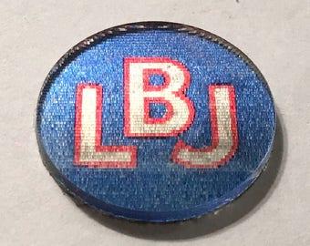 1964 LBJ for the USA, Lyndon B. Johnson Presidential Campaign Flasher Sticker Button