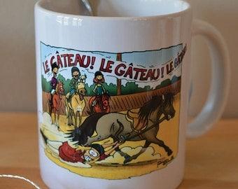 """Mug illustrates """"The cake"""""""