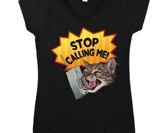 Stop Catcalling Me -- Women's V-Neck