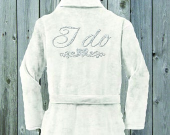I Do Plush Terrycloth Bridal Robe
