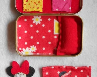 Altoid road trip minnie mouse play set,stuffed animal,bedtime, girl,church purse toy,quiet,sleepover,summer travel,pretend play,personalized