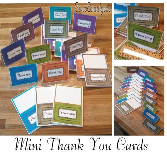 Colorful all occasion mini thank you cards all seasons bi fold place cards mini gift tags floral supply event tags package tags party supply