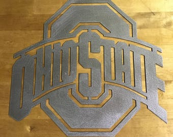 OSU Ohio state sign steel metal wall art