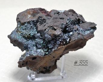Euhedral CUPRITE Crystals, with Massive Cuprite, Mottramite, and other Copper Minerals,  from Bisbee, Arizona -  Cuprite Mineral Specimen