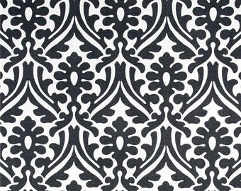 Black & White Indoor Outdoor Fabric by the Yard Designer Damask Print Home Decor Fabric Curtain Fabric Cushions Upholstery Fabric C522