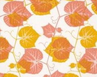 Ty Pennington Impressions Orange Ivy yardage (2 yards)