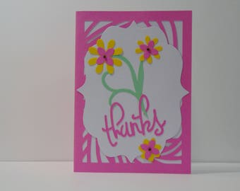 A Pink Thank You Card