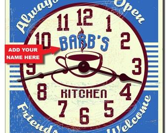 Retro America Personalized Kitchen Wall Clock