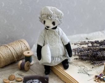 Panda Lilit, teddy bear 7 inches, artist teddy, teddy bear, handmade toy, OOAK