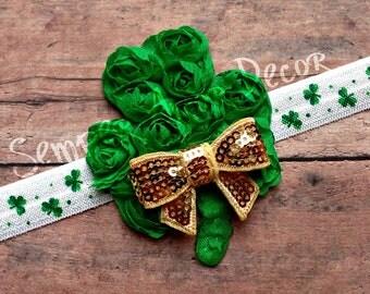 St Patricks Day Bow, St Patricks Headband, St Patricks Day Baby, St Patrick's Day, St Patrick's Baby, St Patrick Headband, St Pattys Day Bow