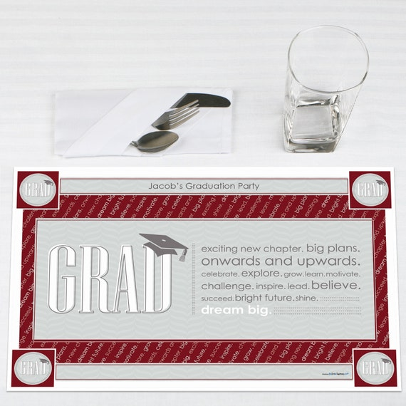 graduation paper placemats Elegant plastic dinnerware that looks like real china paper plates and napkins for any holiday or occasion.