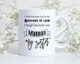 Wedding Gift Ideas For Brother In Law : ... law gift, Sister in law mug, Sister in law wedding gift, Brother gift