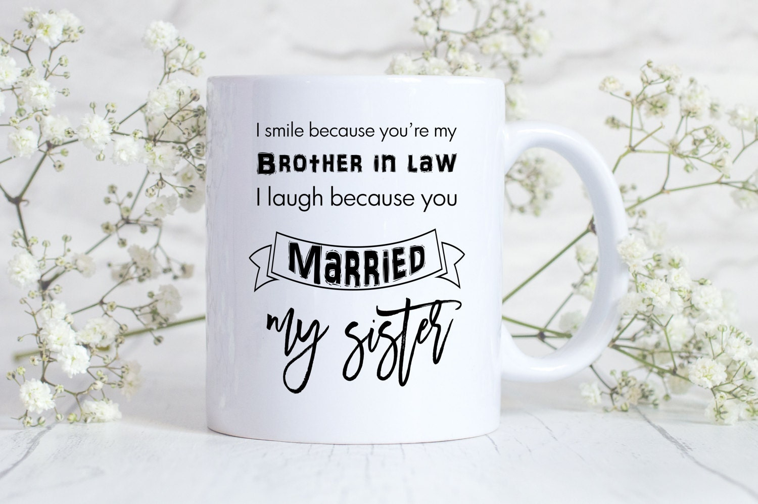 Brother In Law Gift Mug Sister