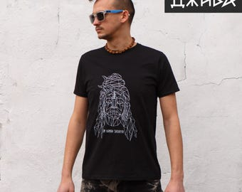 T-shirt with Indian god Shiva, silkscreening Free shipping