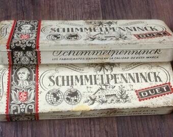 Vintage Cigar Tins. Schimmelpenninck Duet. 1960's.