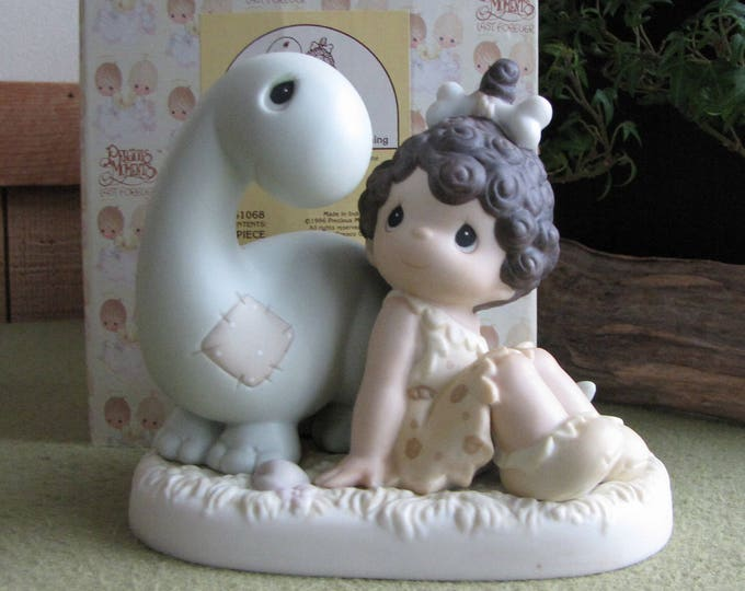 Precious Moments Friends From The Very Beginning Figurine Retired Heart Symbol 1996