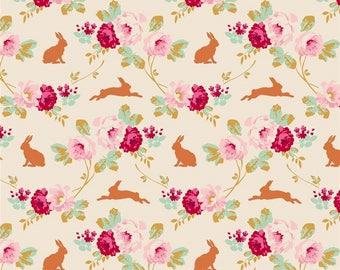 "NEW * fabric TILDA rabbit ""Roses and rabbits"""