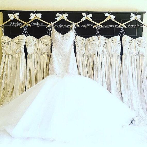 13 glitter hangers set bridal party sparkle hanger mrs for Bride wedding dress hanger