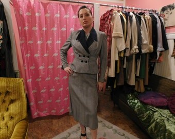 1940 3 piece suit  jacket & vest and pencil skirt
