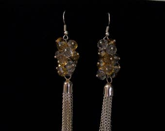 cluster swarovski earring