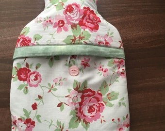 Cath Kidston rosali fabric hot water bottle cover