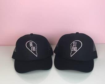 Best Friend Gift. Best Friend Hats. Best Friend Birthday Gift. Snapback Hats - Set of 2. Best Friends Gift.