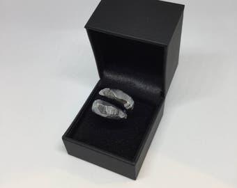 Black Sterling Silver Spiral Ring