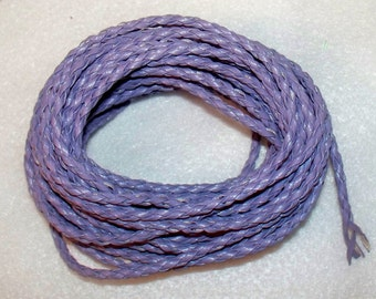 8 yards of Purple Braided Leather Cording