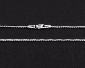 """Sterling Silver Spiga Chain 16"""" 18"""", 20"""", 22"""" & 24"""" 1.5mm Wide 