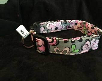 Pink and grean retro large collar