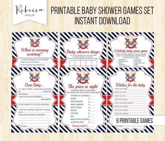 baseball baby shower game pack all stars sports baby shower games