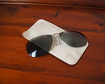Vintage Polaroid sunglasses clip-on frame made in 50s - 60s.