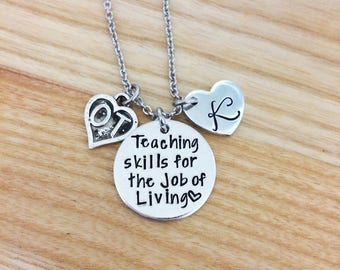 Occupational therapy gifts, Hand stamped necklace, Personalized gift for OT, Occupational therapy, Graduation gift for OT, OT Necklace