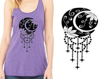Live by the Sun, Love by the Moon chandelier racerback tank