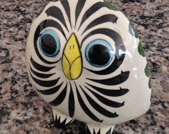 Signed Pottery Owl from Mexico