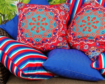 PREMIUM OUTDOOR cushion covers Adore Decorative throw cushion for indoors and outdoors - cover only