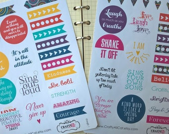 Planner Stickers: Strength