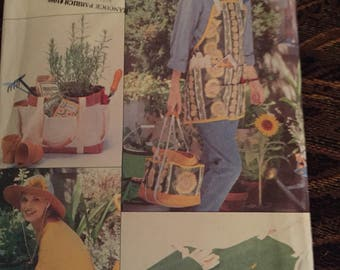 Vintage 1996 Butterick Sewing Pattern ~ Garden Accessories/Apron : New