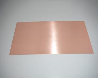 """6"""" x 12"""" solid copper sheet (24 gauge, 20 gauge, 16 gauge)"""