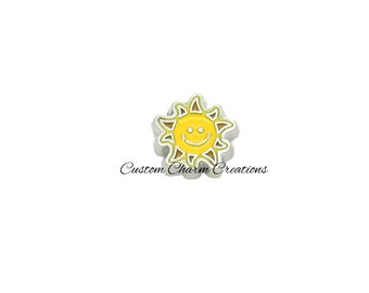 Floating Locket Charm • Happy Sun •Smile • Beach • Memory Charm - BEA08