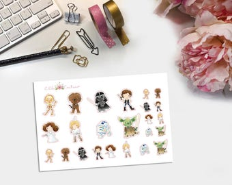 Galaxy Deco Planner Stickers