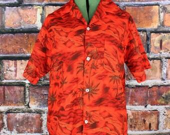 Hukilau Fashions Vintage 1960s Hawaiian  Shirt