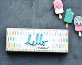 Popsicle Mini Wood Sign. Hello Summer.