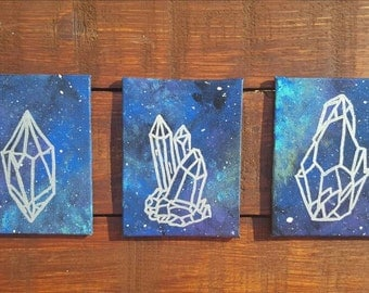 Galaxy // Crystal Acrylic Painting