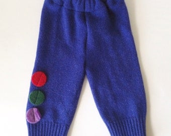 0-3M wool baby trousers longs leggings harem trousers wool pants potty training EC diaper free baby wool