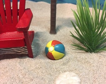 Miniature Beach Ball - Miniatures - Miniature Beach - Beach Miniatures - Beach Wedding - Wedding Cake Toppers - Beach Terrarium - Wedding