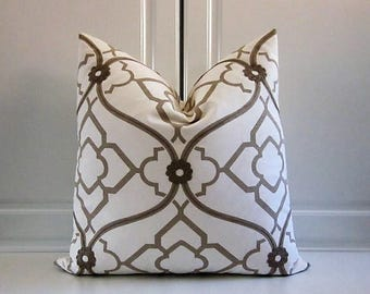 Candace Olsen Decorative Pillow Cover- Geometric-Embroidery 20x20 Last One!