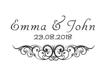 Custom Wedding Stamp/ Initials Stamp / Monogram stamp / Save the Date Stamp / Envelope Stamp / Wedding Invitations / Wedding Favour Tags