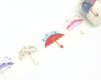 Umbrellas and Rain Washi Tape 30mm x 5m